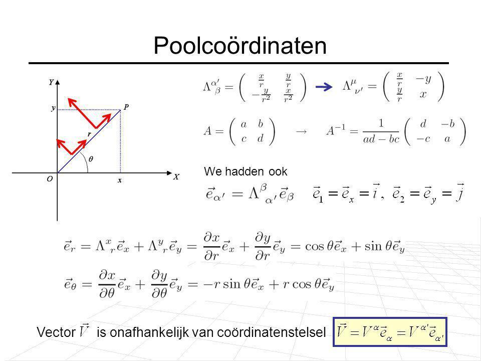 Poolcoördinaten Vector is onafhankelijk van coördinatenstelsel