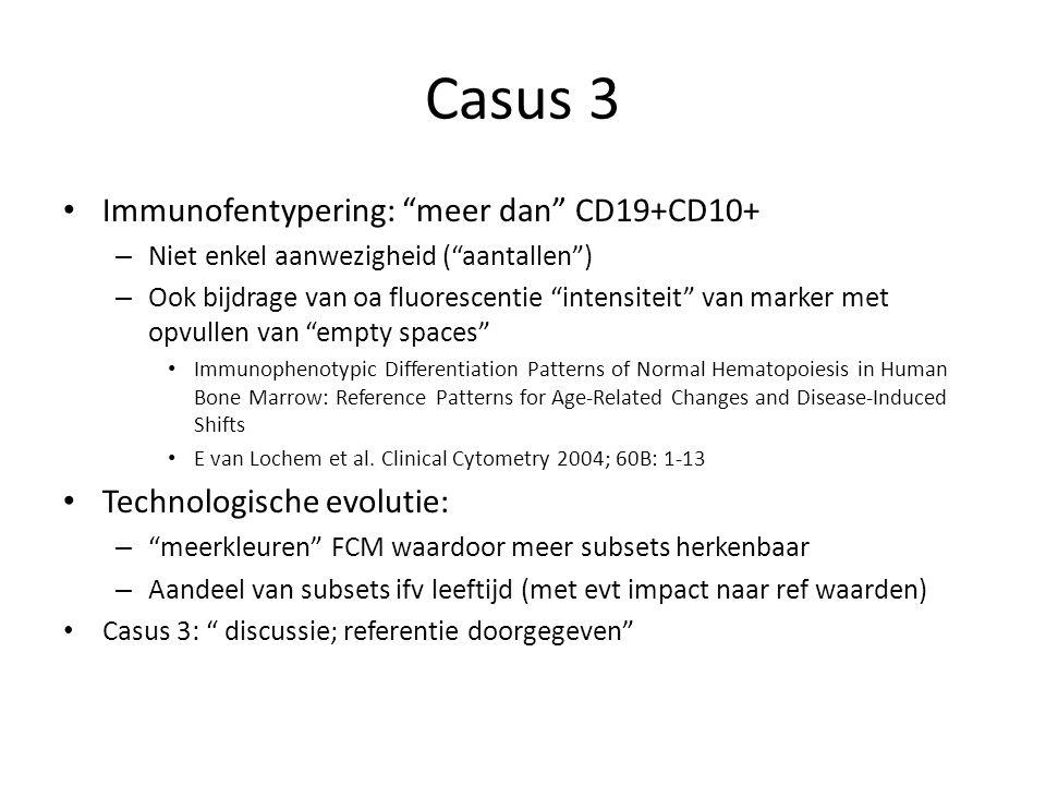 Casus 3 Immunofentypering: meer dan CD19+CD10+
