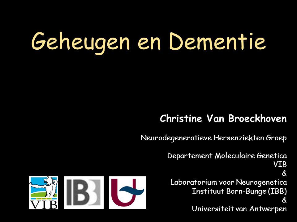 Geheugen en Dementie Christine Van Broeckhoven