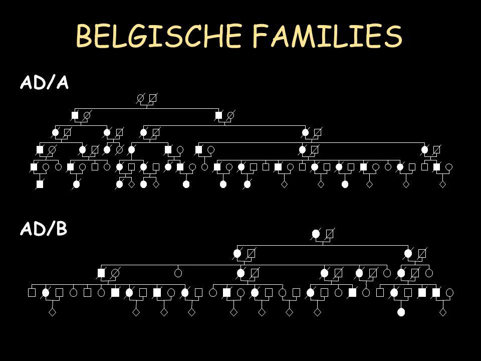 BELGISCHE FAMILIES AD/A AD/B