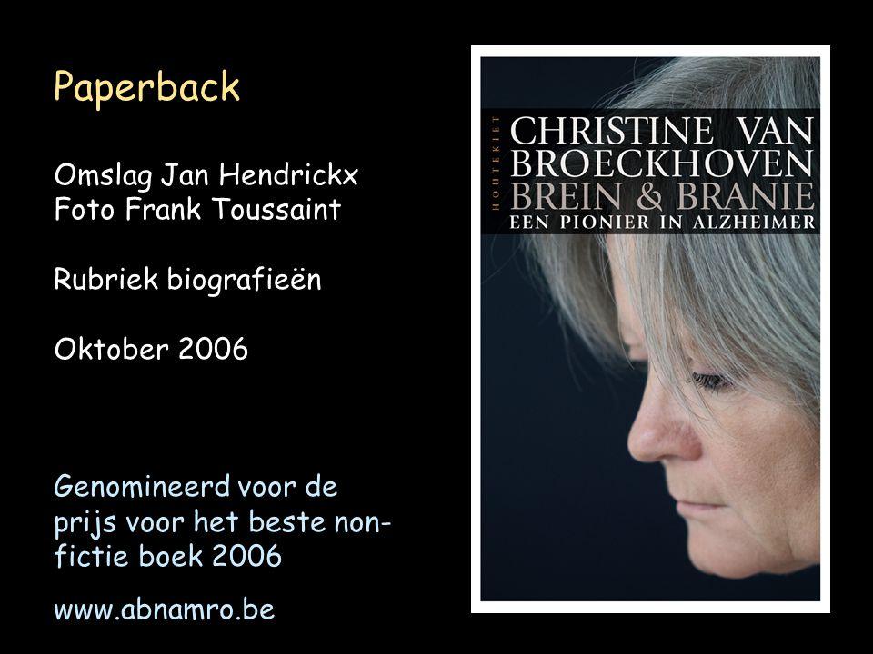 Paperback Omslag Jan Hendrickx Foto Frank Toussaint