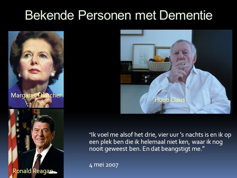 Bekende Personen met Dementie