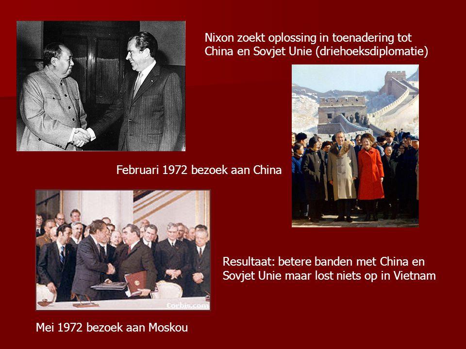 Nixon zoekt oplossing in toenadering tot China en Sovjet Unie (driehoeksdiplomatie)