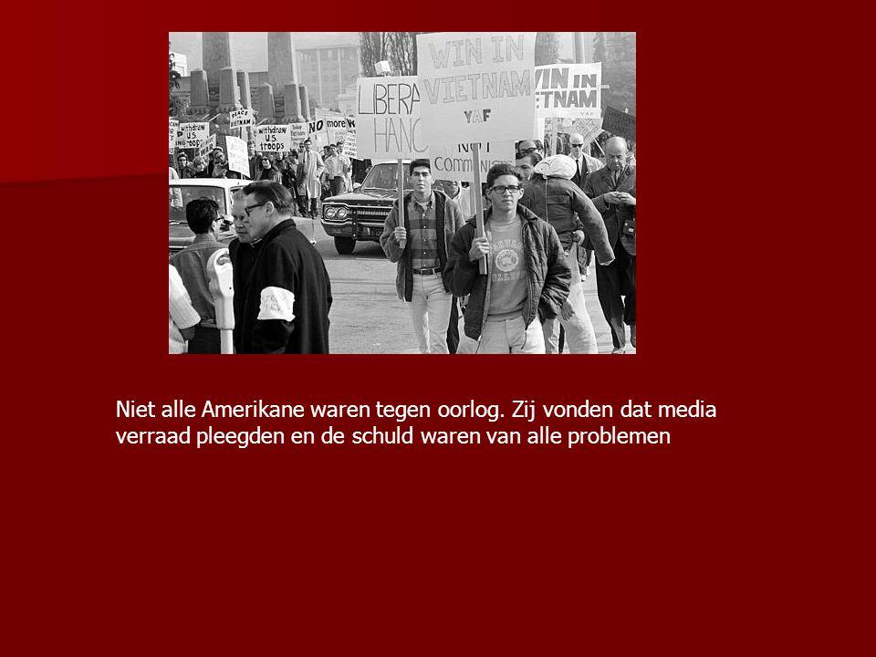 Niet alle Amerikane waren tegen oorlog