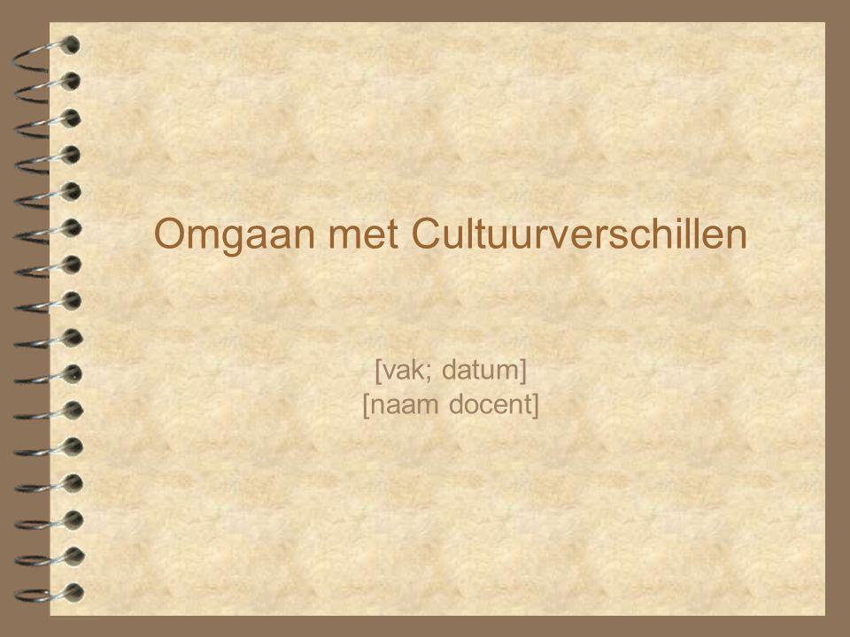 Omgaan met Cultuurverschillen