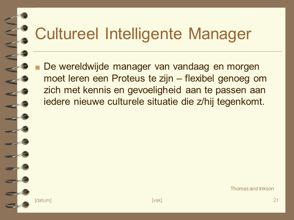 Cultureel Intelligente Manager