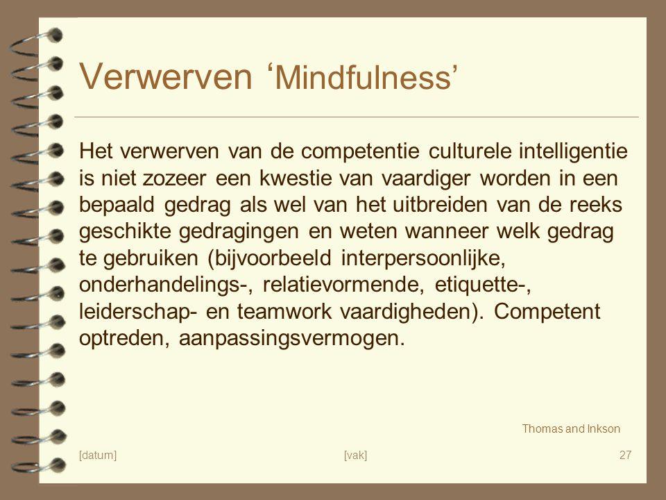 Verwerven 'Mindfulness'