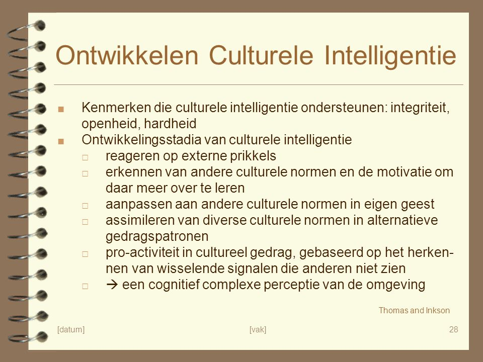 Ontwikkelen Culturele Intelligentie