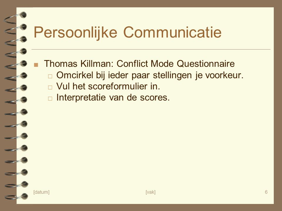 Persoonlijke Communicatie