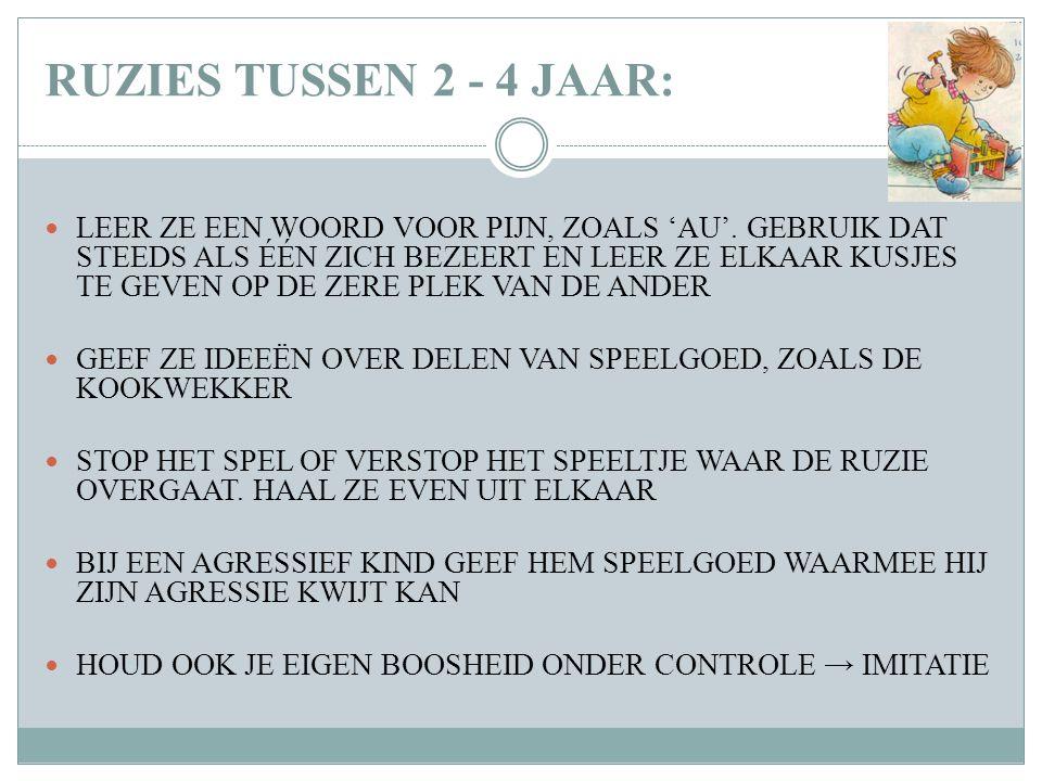 RUZIES TUSSEN 2 - 4 JAAR: