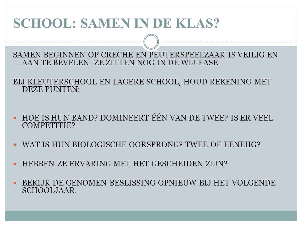 SCHOOL: SAMEN IN DE KLAS