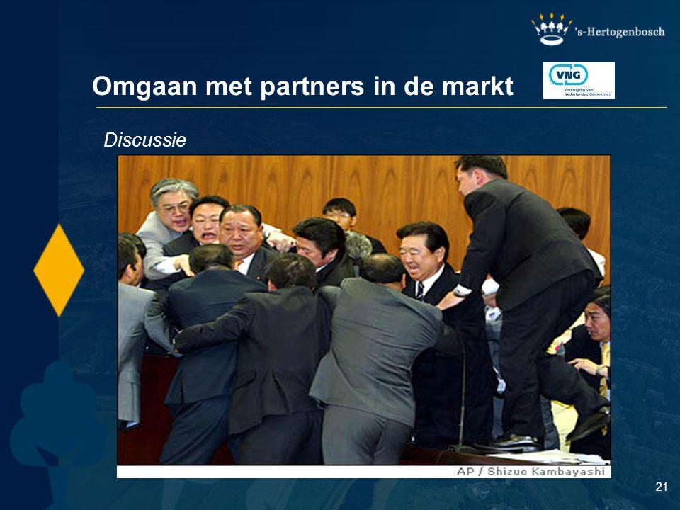 Omgaan met partners in de markt