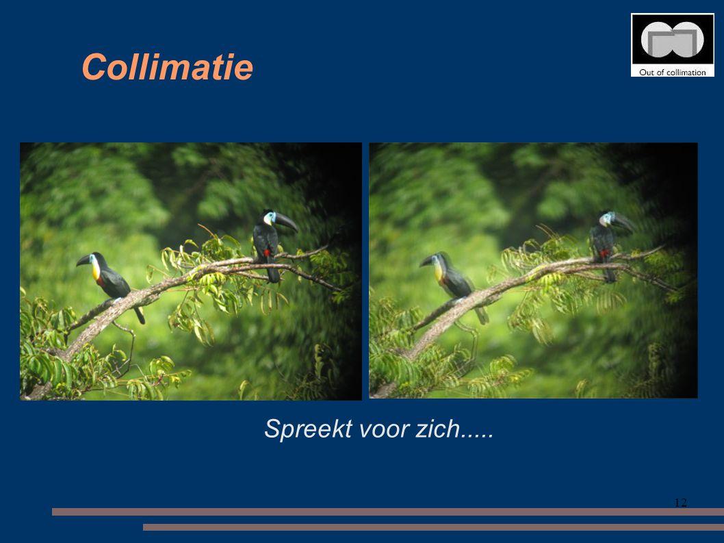 Collimatie Spreekt voor zich..... 12