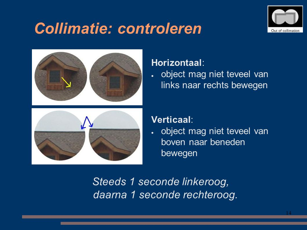 Collimatie: controleren