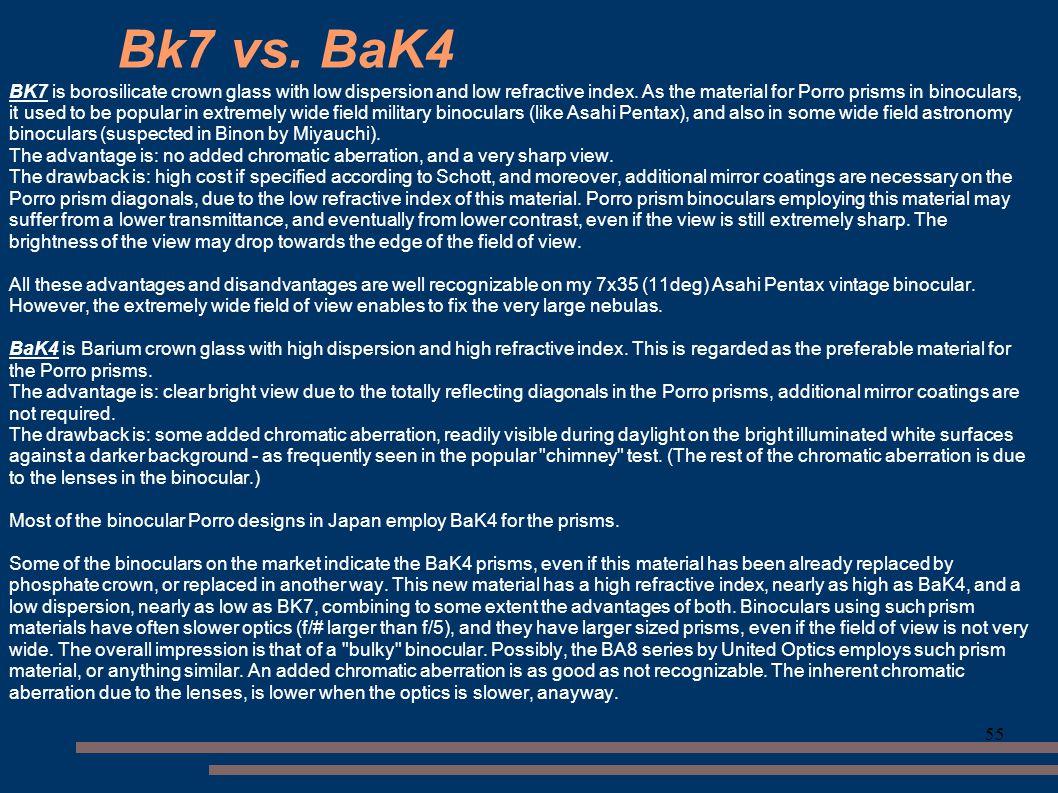 Bk7 vs. BaK4