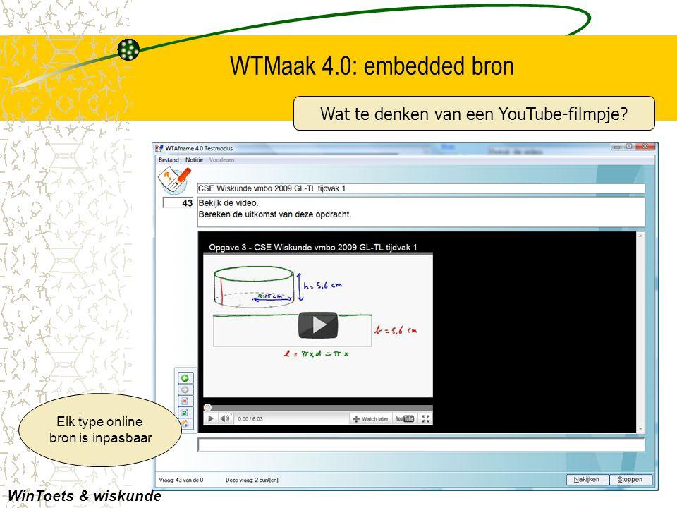 Hand-out bij de Presentatie WinToets 4.0 - lange versie