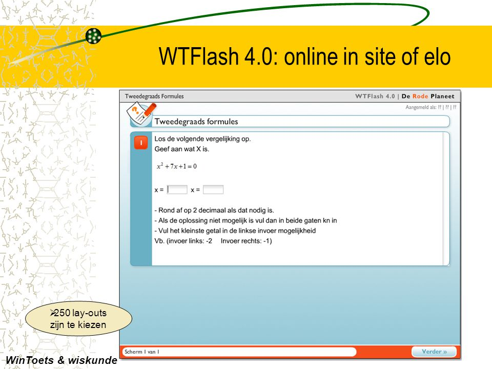 WTFlash 4.0: online in site of elo