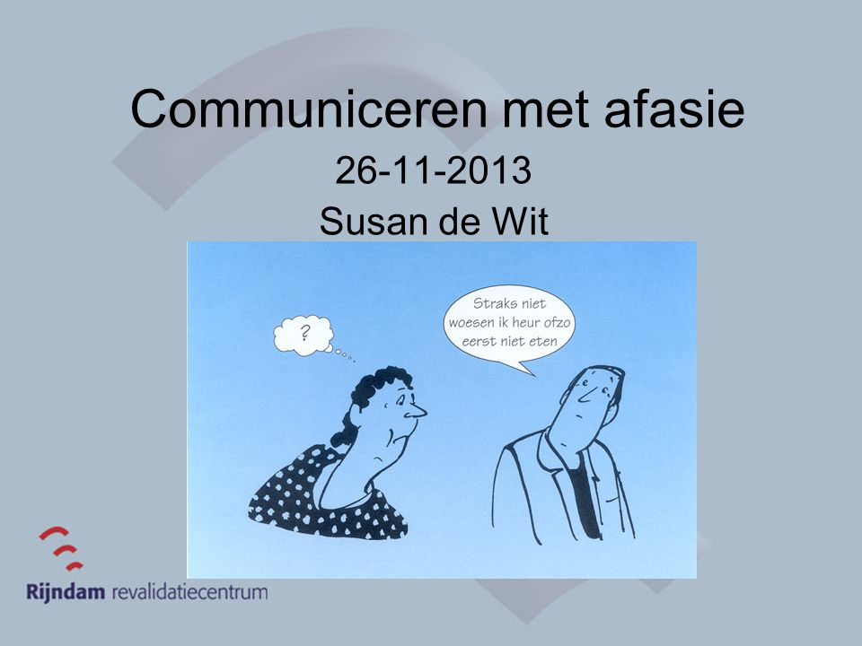 Communiceren met afasie