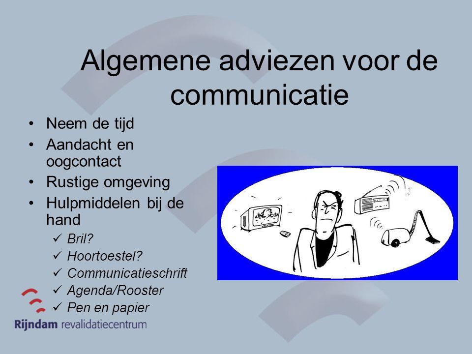 Algemene adviezen voor de communicatie