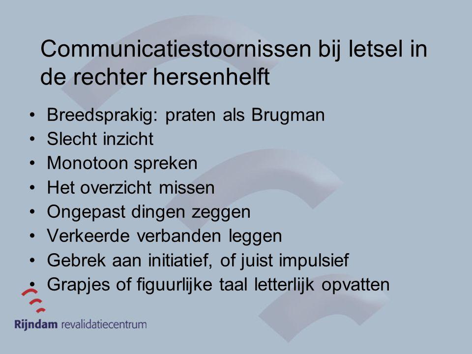 Communicatiestoornissen bij letsel in de rechter hersenhelft