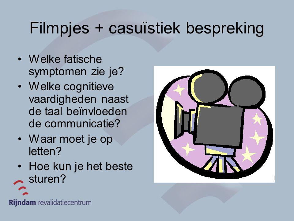 Filmpjes + casuïstiek bespreking