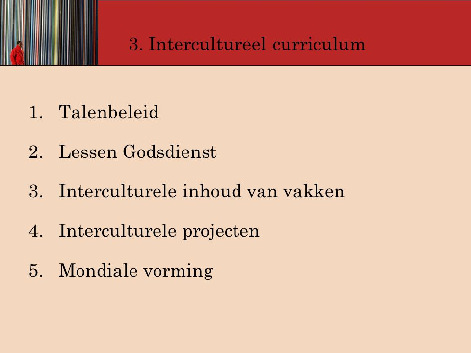 3. Intercultureel curriculum