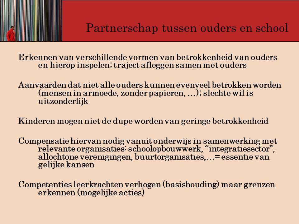 Partnerschap tussen ouders en school