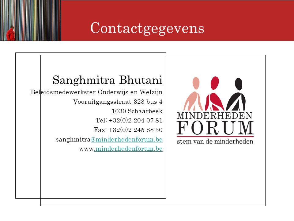Contactgegevens Sanghmitra Bhutani