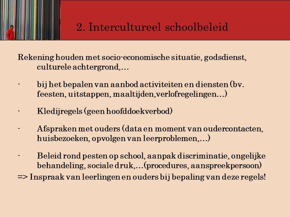 2. Intercultureel schoolbeleid