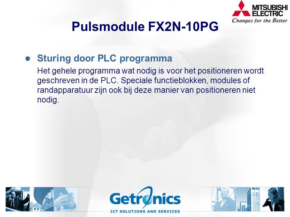 Pulsmodule FX2N-10PG Sturing door PLC programma
