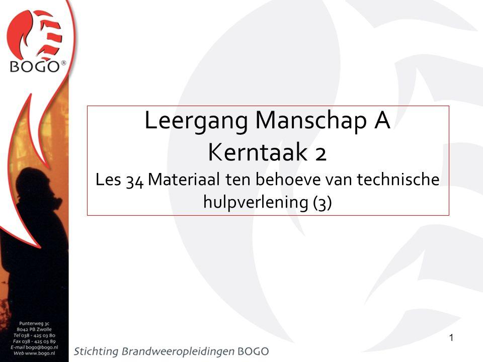 Les 34 Materiaal ten behoeve van technische hulpverlening (3)