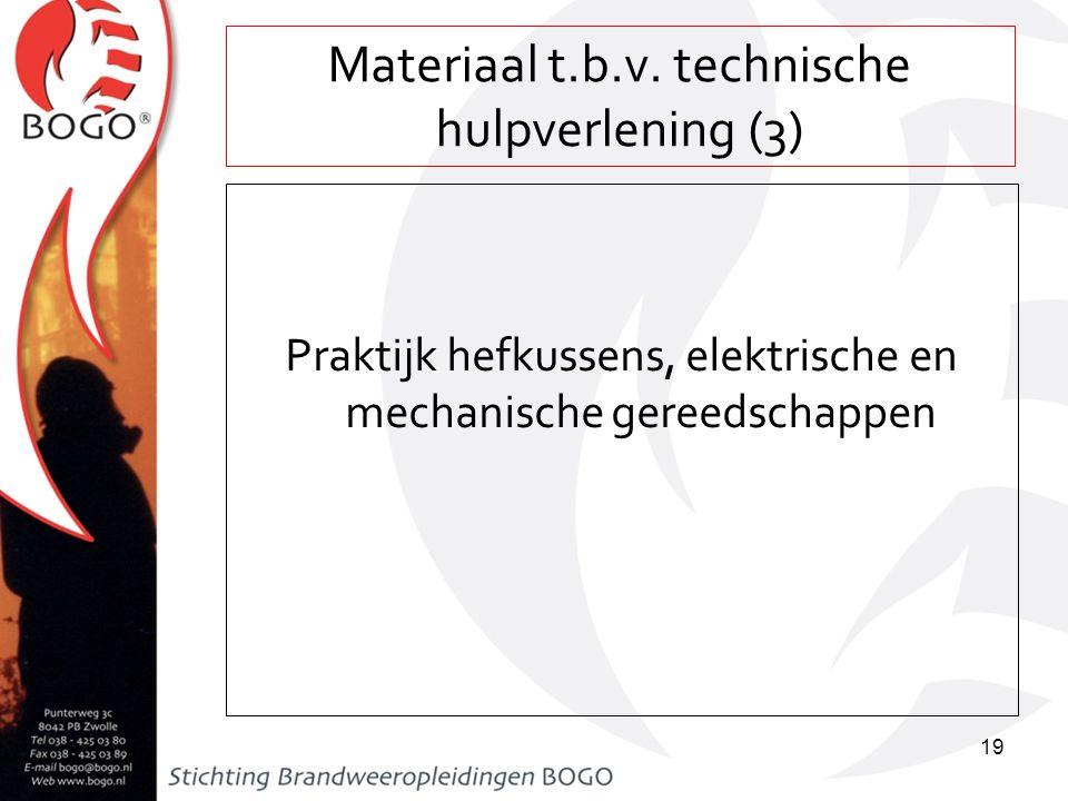 Materiaal t.b.v. technische hulpverlening (3)