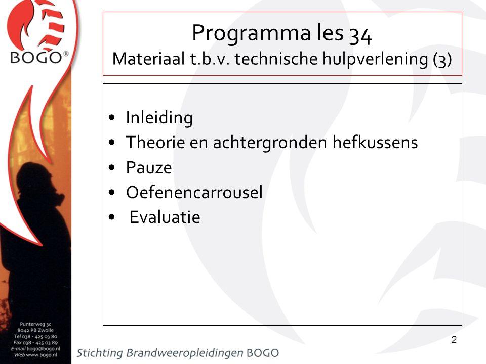 Programma les 34 Materiaal t.b.v. technische hulpverlening (3)