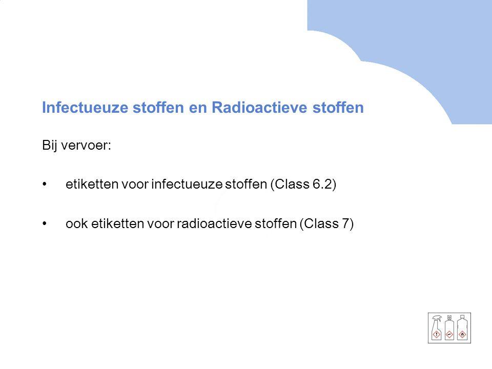 Infectueuze stoffen en Radioactieve stoffen