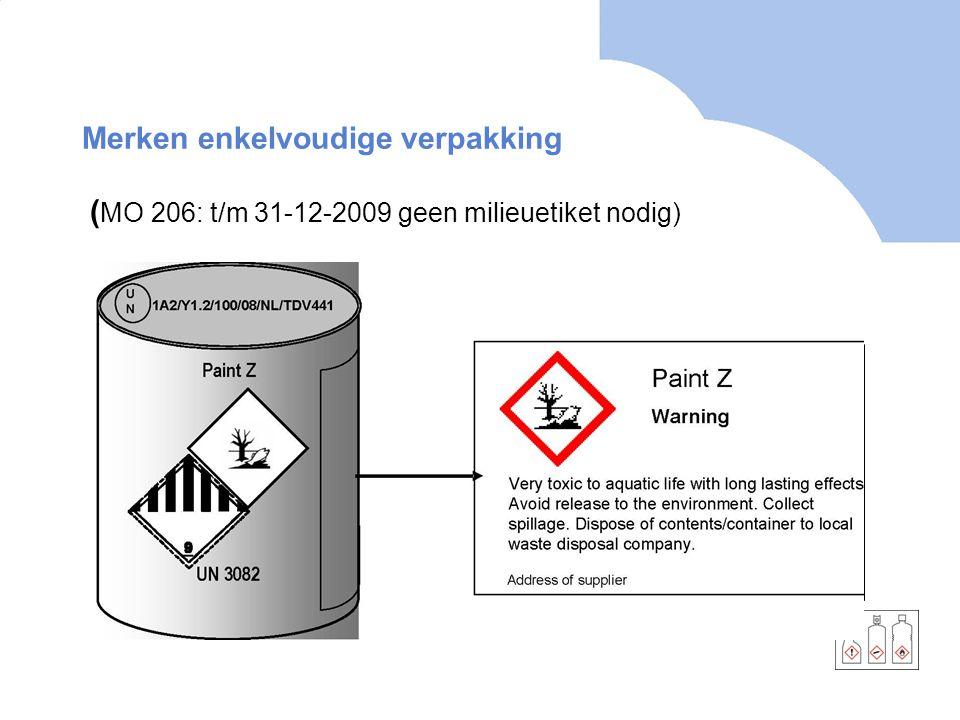 Merken enkelvoudige verpakking (MO 206: t/m 31-12-2009 geen milieuetiket nodig)