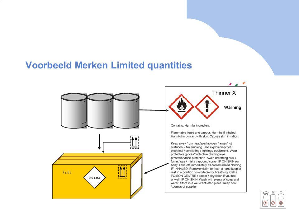 Voorbeeld Merken Limited quantities