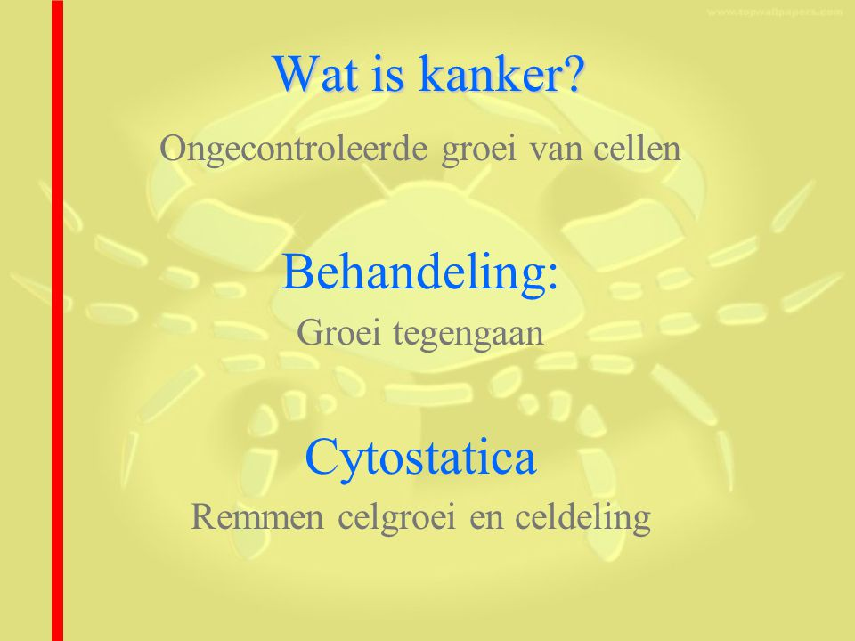 Wat is kanker Behandeling: Cytostatica