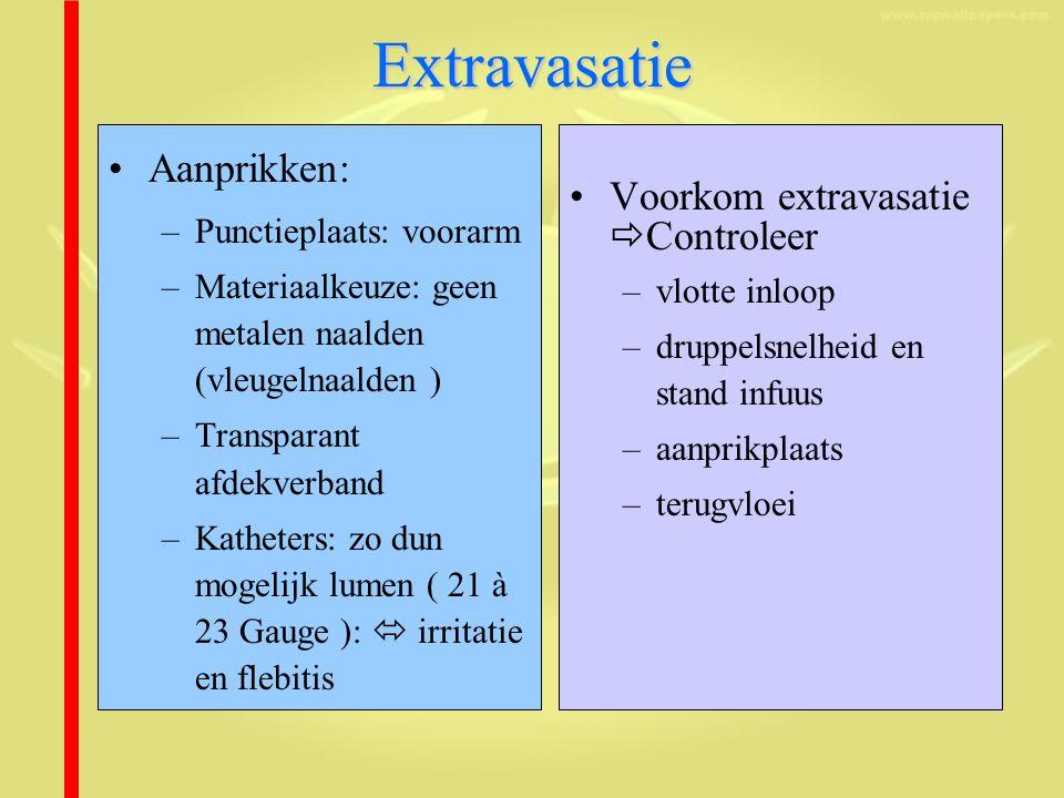 Extravasatie Aanprikken: Voorkom extravasatie Controleer
