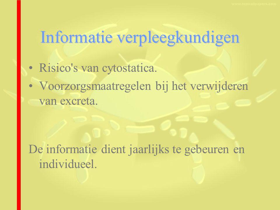 Informatie verpleegkundigen