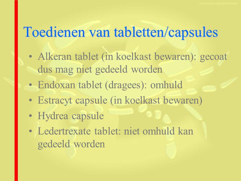 Toedienen van tabletten/capsules