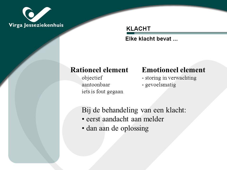 Rationeel element Emotioneel element