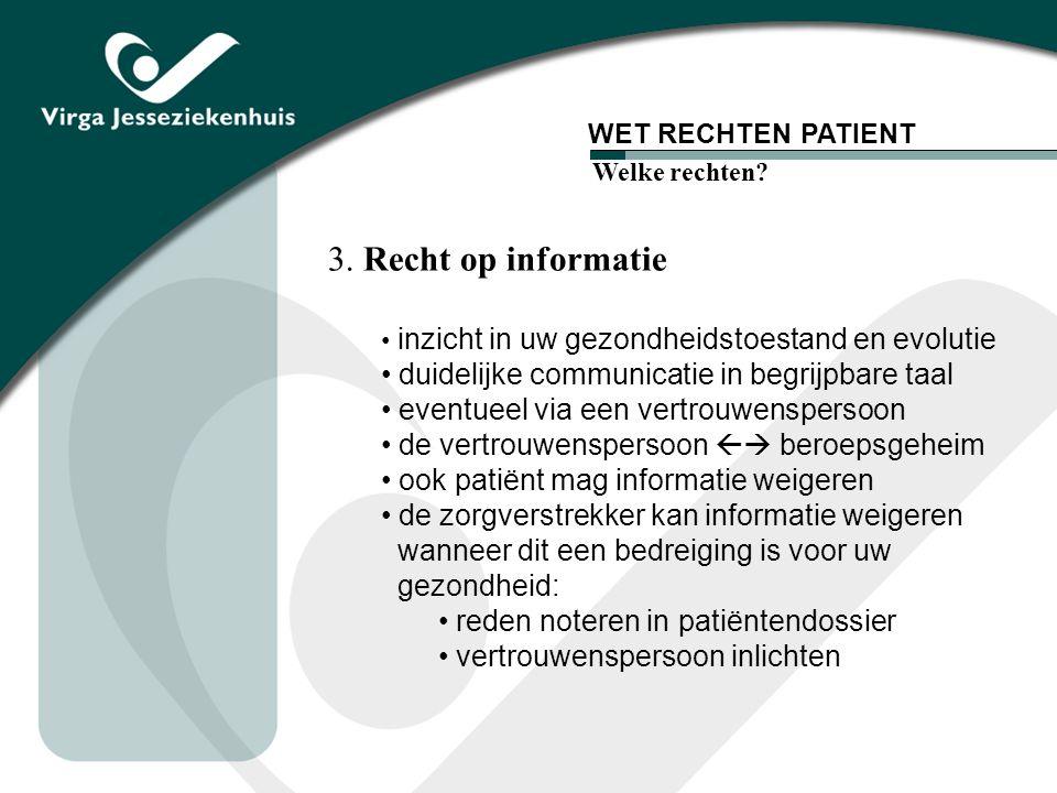 3. Recht op informatie duidelijke communicatie in begrijpbare taal