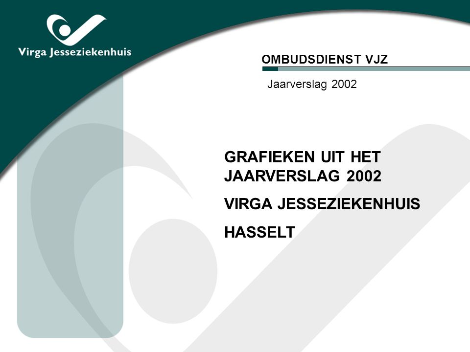 GRAFIEKEN UIT HET JAARVERSLAG 2002 VIRGA JESSEZIEKENHUIS HASSELT