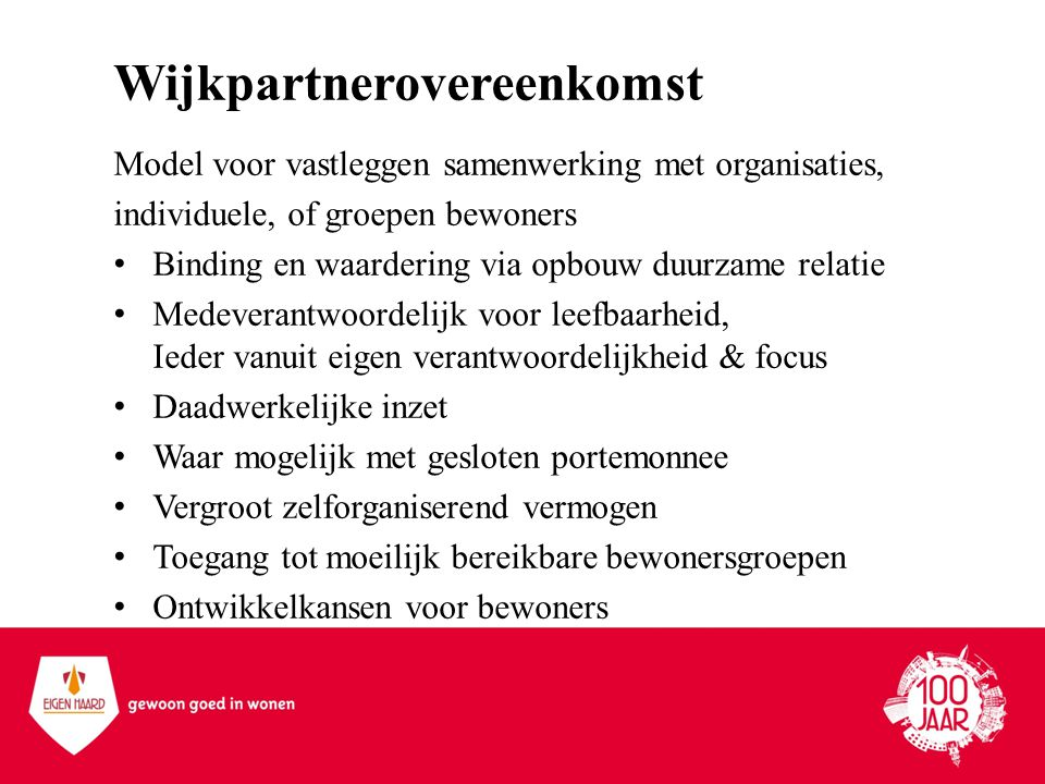Wijkpartnerovereenkomst