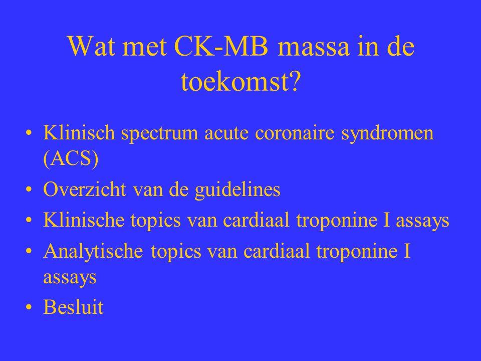 Wat met CK-MB massa in de toekomst