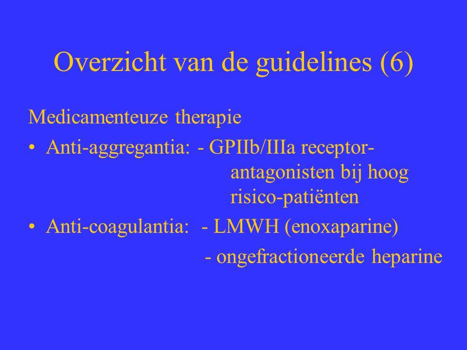 Overzicht van de guidelines (6)