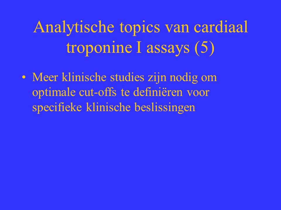 Analytische topics van cardiaal troponine I assays (5)