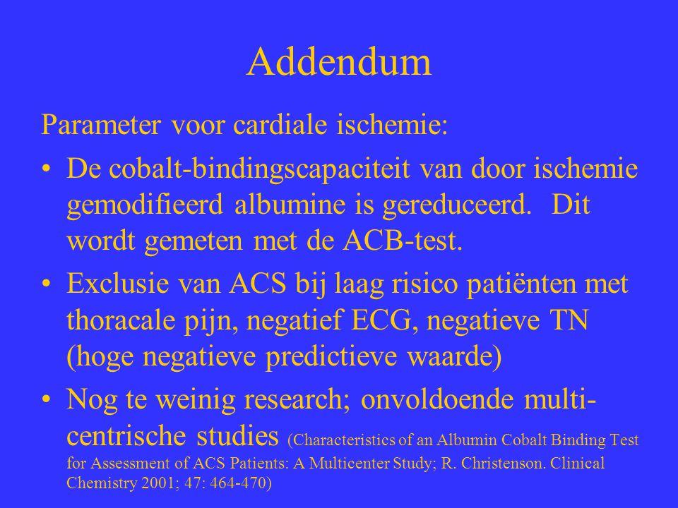 Addendum Parameter voor cardiale ischemie: