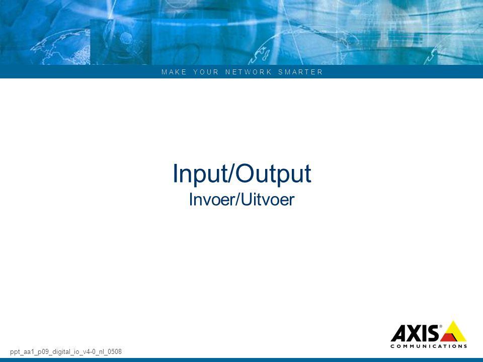 Input/Output Invoer/Uitvoer