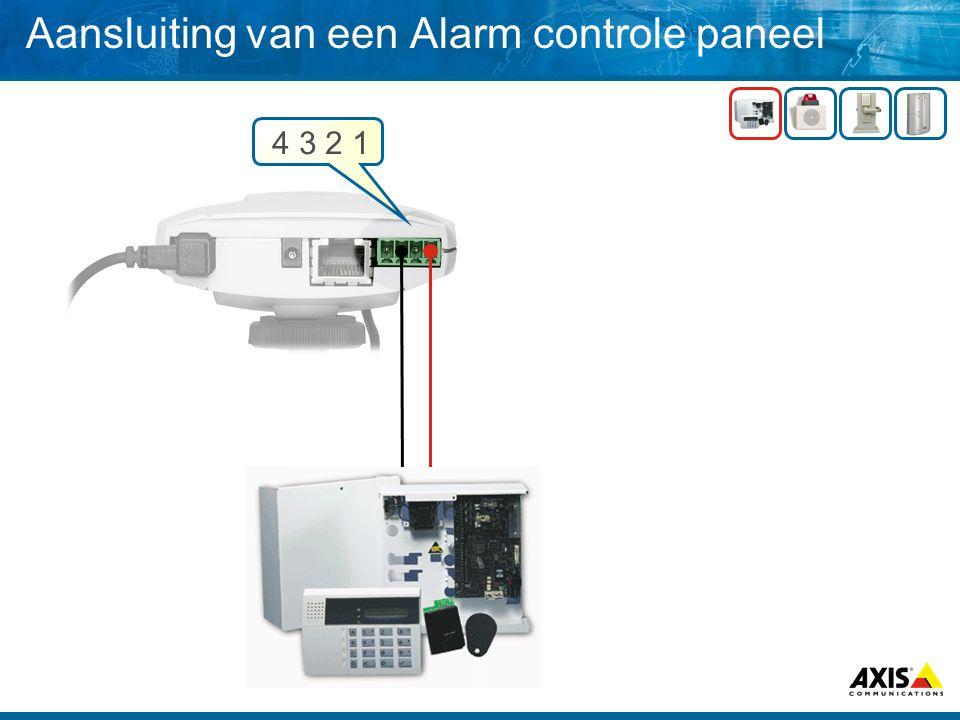 Aansluiting van een Alarm controle paneel